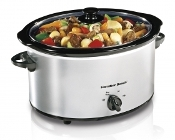 HAMILTON BEACH Classic Chrome Slow Cooker 33550