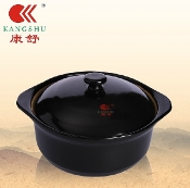 Ceramic Pot 1.8L 2# Black D2109