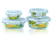 Glass Container 4-Set 6411