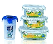 Glass Container 4-Set 6412