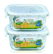 Glass Container 2-Set 6414