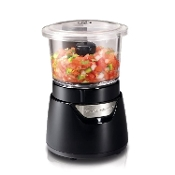 HAMILTON BEACH Stack & Press™ 3 Cup Glass Bowl Chopper 72860C