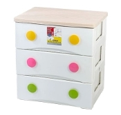 Plastic Cabinet 3-Drawer 2826A