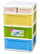 Plastic Cabinet 3+1 Drawer 2819A