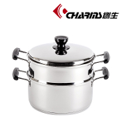 CHARMS Steamer/Soup Pot 2-Layer 24cm LJ111